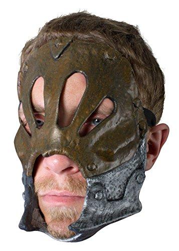 Schaurige Trophäenmaske Berserker Silber oder Kupfer LARP-Maske Krieger Fantasymaske Fasching Kostüm (Maske Kostüme Krieger)