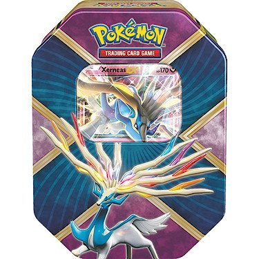 Pokemon TGC - XY Shiny Kalos Tin - Xerneas EX - Boite 4 Packs de Cartes Booster Version Anglaise