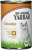 YARRAH Bio Katzenfutter Bröckchen Huhn 405g, 12er Pack (12 x 405 g)