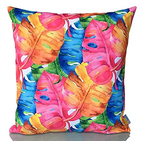 Sunburst Outdoor Living 50cm x 50cm (With Piping) MIRACLE Contemporary Decorative Throw Pillow Cushion Cover for Couch, Bed, Sofa or Patio - Only Case, No