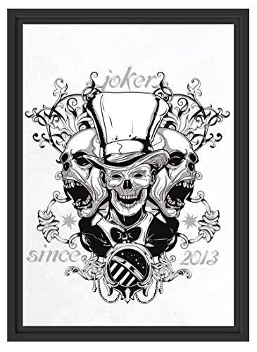 Picati Joker White im Schattenfugen Bilderrahmen|Format: 55x40 im Schattenfugen-Bilderrahmen|Kunstdruck auf hochwertigem Galeriekarton|hochwertige Leinwandbild Alternative