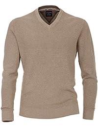 CASAMODA Pullover V-Ausschnitt extra langer Arm hellbraun AL 72