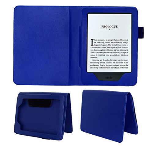 ACM Executive Case for All New Kindle E-Reader 6″ Tablet Front & Back Flip Cover Stand Blue