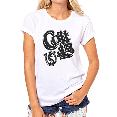 Colt 45 Horse Riding Dirty Down There Damen T-Shirt Weiß