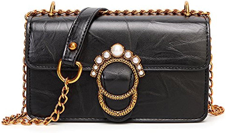 PU Borsa Piccola Tracolla Pearl Bag Messenger Borsa A Tracolla Chain Lady Fashion Retro Dating Tote Bag HQ.ADIER... | Il materiale di altissima qualità  | Scolaro/Signora Scarpa