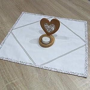 Erstaunliche Kleine Quadratische Tischdecke, das Beste Geschenk für die schönste Küche von HomeAtelier, Beige Spitze, 40x40cm