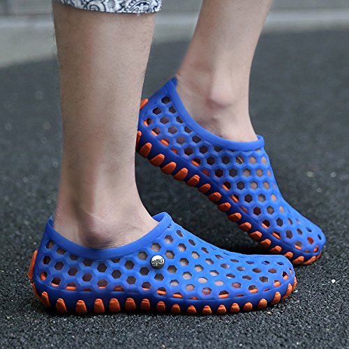 Chaussons pour Hommes Hommes Hommes chaussures sandales sandales Crocs chaussures de plage nid d'été des jeunes étudiants All black