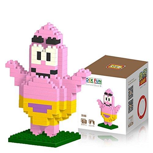 Kostüm Patrick Spongebob (Katara DIY Block-Set zum Aufbauen Spongebob Schwammkopf