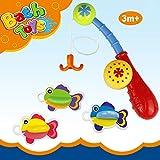 Chickwin ~ Juguetes de baño juego de pesca con lindo pescado para niños baño de baño jugar agua en la bañera de la piscine (Style 4)