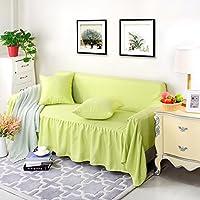 verc tipo cristal terciopelo a partir de patín Uso Reversible funda de sofá sofá Toalla sofá cojín, algodón, verde, 170*260cm