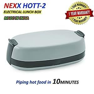 Nexx Hott-2 Electrical Lunch Box Food Warmer, Tiffin Box Serve Hot in 10 Minutes, 740ml, Set of 2, Grey