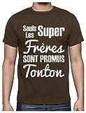 Les Super frères sont promus Tonton pour Naissance T-Shirt Homme Medium Marron