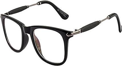 Y&S Clear Wayfarer Unisex Sunglasses (Clear-Wayfarer-Golden-Stick-Single|Clear|55)