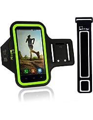 Brazalete Deportivo iPhone 6/6s/5 & Samsung Galaxy S7/S6/S5. Armband de Teléfono Para Running jogging Turismo, Ciclismo, funda caso de ejercicio (Brazos X-Pequeños 23cm - X-Grandes de 53cm)