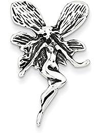 Broche de plata de ley diseño de hada con lámpara de techo de pared con marco envejecido - JewelryWeb