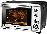 UNOLD 68846 Ofen Electronic, 36 L, 8 Funktionen, Timer, Beleuchteter Backraum, 2 separate Temperatureinstellungen mit Drehspieß, 1800 W
