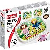 Quercetti 04425 - Gioco Dressy Baby Basic, 18 Pezzi