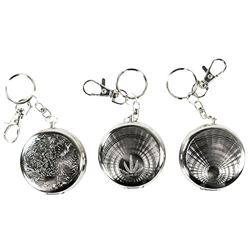 COM-FOUR® 3er Pack geschlossener Aschenbecher für die Tasche oder als Schlüsselanhänger (1x 3er Pack) (Schlüsselanhänger Aschenbecher Als)
