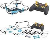 Simulus Quadcopter: Quadrocopter-Bausatz, 38-teilig, 2,4-GHz-Fernbedienung, 3D-Flugmanöver (Drohne Baukasten)