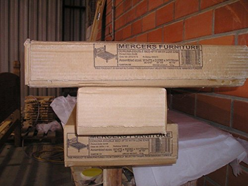 "Mercers Furniture Corona 4'6"" Low Foot End Bed Frame, pine, Brown, Double"