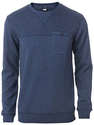 Herren Sweater Rip Curl Block Fleece Sweater night sky marle