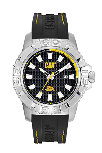 CAT Alaska-Orologio da uomo al quarzo con Display analogico e cinturino in gomma, CA.141,27.127, colore: nero