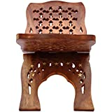 ITOS365 Wooden Hand Carved Rehal Holy Books Stand Angoori Design 13 inch
