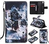 Feeltech LG X Power Hülle PU-Leder und Brieftasche Bunte Muster Fall mit Magnetverschluss, Hybrid-Kickstand mit Stand-Funktion, schlagen Sie schützende weiche TPU Stoßstangenabdeckung und Kreditkartenhalter für LG X Power Handgelenk Bügel-Buch-Art-Geldbeutel-Tasche mit 2 In 1 Berühren Sie Stift - Schürhaken -