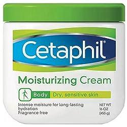 Cetaphil Moisturizing Cream for Dry/Sensitive Skin Fragrance Free 16 oz