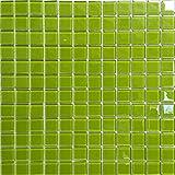 Glas Mosaik Fliesen Matte in ultramodernen grünen. Verkleidung für Wände (MT0023 GTDE)