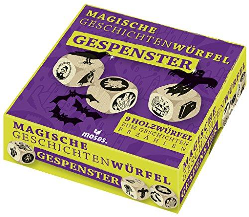 Moses 90281 Magische Würfel - Gespenster | 9 Holzwürfel zum Geschichten erzählen | Für Kinder ab 6 Jahren