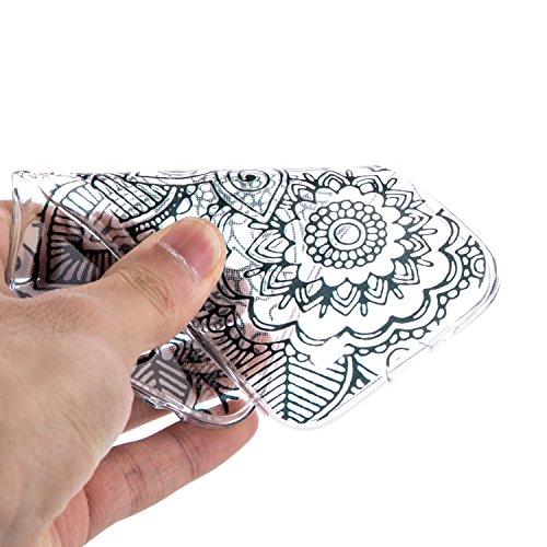 Voguecase® Pour Iphone SE, TPU Silicone Shell Housse Coque Étui Case Cover (Creux-cerfs de musique)+ Gratuit stylet l'écran aléatoire universelle creux cercle 01/noir