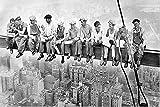 bestforhome-Leinwandbild Skylunch Retro Foto Bauarbeiter Mittagspause auf einem Wolkenkratzer Lunch ATOP a Skyscraper