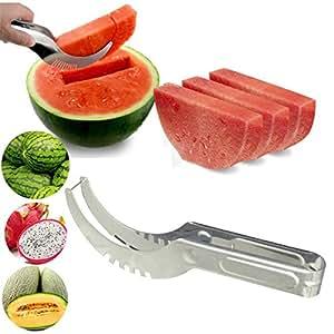 Diswa Steel Amazing Watermelon Slicer Cutter (Silver)