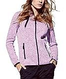Strickfleece-Jacke mit Kapuze für Damen, für Sport, Freizeit & Wandern, Premium Qualität von Stedman® Active Outdoor - Größe M