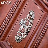 Maniglie del cassetto, 4 PCS bronzo in lega di zinco armadio Governo della medicina Mobili Drawer Handle, Dimensione: Extra Large-91g (Bronzo) (Colore : Bronzo)