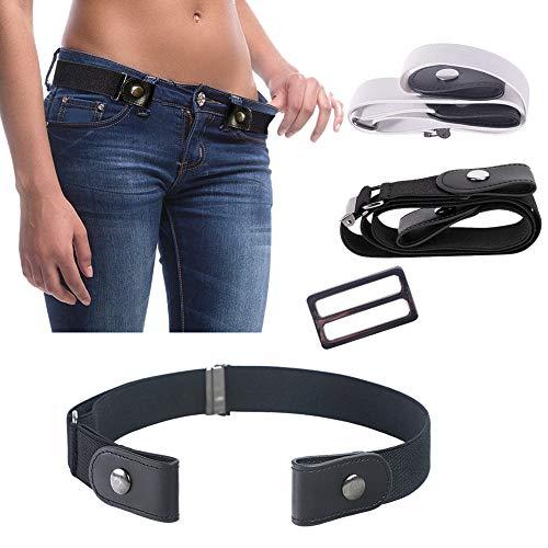 2 Unids Cinturón Elástico de Las Señoras Cinturón Invisible Para Pantalones Vaqueros Sin Hebilla Cinturón Elástico Estiramiento Cinturón Ajustable Cinturón Elástico Ajustable Cinturón Elástico