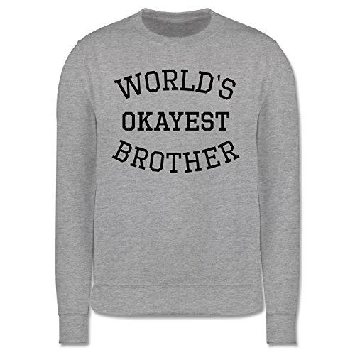 Bruder & Onkel - World's okayest brother - Herren Premium Pullover Grau Meliert