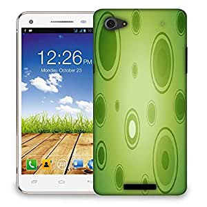 Snoogg Abstract Green Circles Designer Protective Phone Back Case Cover For Micromax Canvas Hue 2 A316