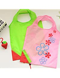SZTARA Strawberry Folding Reusable Shopping Bag Tote Foldable Compact Eco Periodic Duty Recycling Use Shopping...