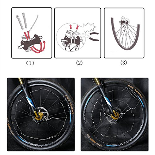 Bescita 20 LED Wasserdicht Fahrrad Licht Fahrrad Bunte Rad Speichen Licht  Dekoration Warning Light,Fahrrad Zubehör Beleuchtung