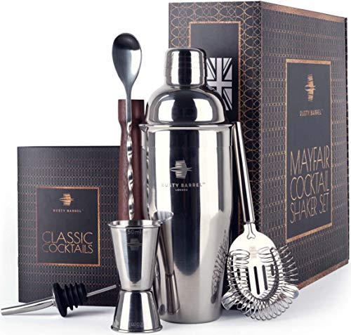 Rusty Barrel Mayfair Kit Coctelera – Coctelera Manhattan de Acero Inoxidable