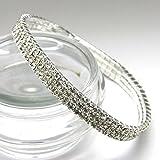 Fi9® 3,4,5rangée extensible stretch Diamante Cheville Extensible Argent Chaîne de cheville