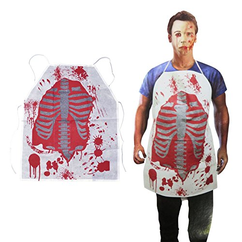 Household Cleaning Energetic 1 Pc Halloween Costume Kitchen Unisex Horror Bloody Apron Butchers Chef Cook Adult Novelty Fancy Dress Party Supplies New Professional Design Aprons