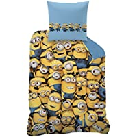 Juego de ropa de cama reversible Minions, 135x 200cm + 80x 80cm, linón, Brothers Minion