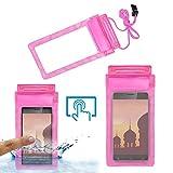 Acm Waterproof Bag Case for Ivoomi Me2 Mobile (Rain,Dust,Snow & Water Resistant) Pink
