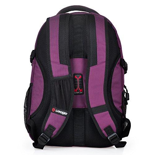Im Freien Wandern Klettern Rucksack Freizeit Ultraleichte UBAGER Wasserdichte Outdoor Wanderrucksäcke Radfahren Reiten Reisetaschen, 22 Liter Purple