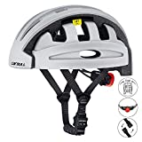 RONSHIN Casco da bici pieghevole City and Commuter Sharing Bike Helmet Casco da ciclismo Silver Free size