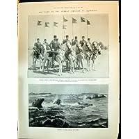 1898 Rocce Tedesche di Giaffa del Crogiolo di Nave della Palestina dell'Imperatore di Erthogroul della Cavalleria del Turco