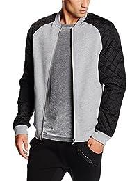 Urban Classics Diamond Nylon Sweatjacket, Blouson Homme